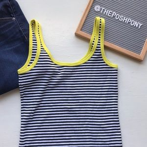 Anthropologie Stripped Cropped Tank Top